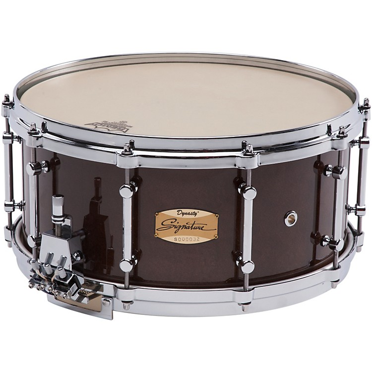 Dynasty Signature Series Maple Concert Snare Drum Cherry Lacquer 14x6.5