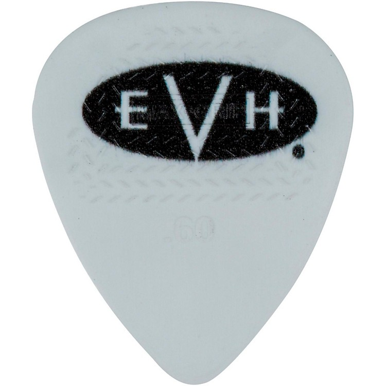 EVH Signature Series Picks (6 Pack) 0.60 mm White/Black