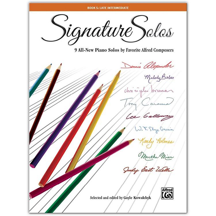 AlfredSignature Solos, Book 5 Late Intermediate