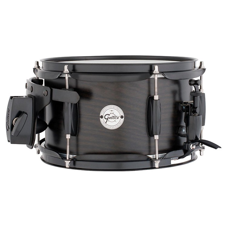 Gretsch Drums Silver Series Ash Side Snare Drum with Black Hardware 10 X 6 Satin Ebony