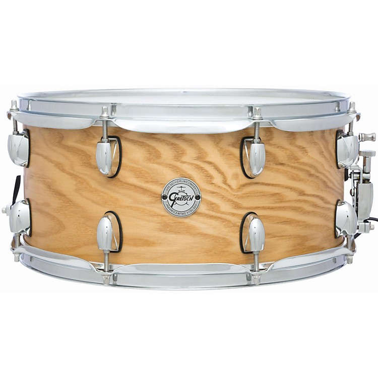 Gretsch Drums Silver Series Ash Snare Drum Satin Natural 6.5x14
