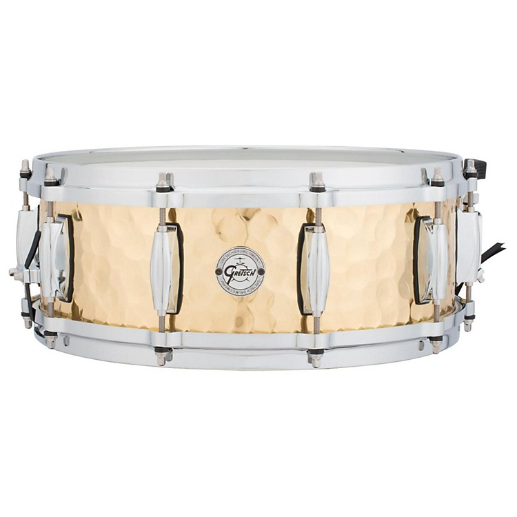 Gretsch Drums Silver Series Hammered Brass Snare Drum 14 x 5