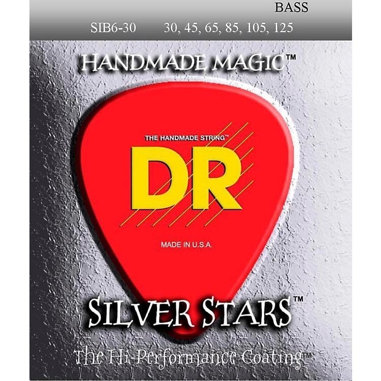 DR StringsSilver Stars Coated 6 String Bass Medium (30-125)