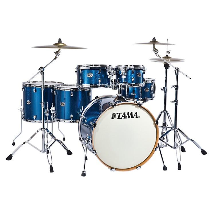 Tama Silverstar 6-Piece Hyper-Drive Limited Shell Pack Indigo Sparkle