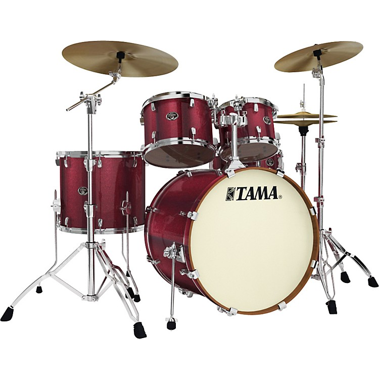Tama Silverstar Accel-Driver 5-Piece Shell Pack Vintage Burgundy Sparkle