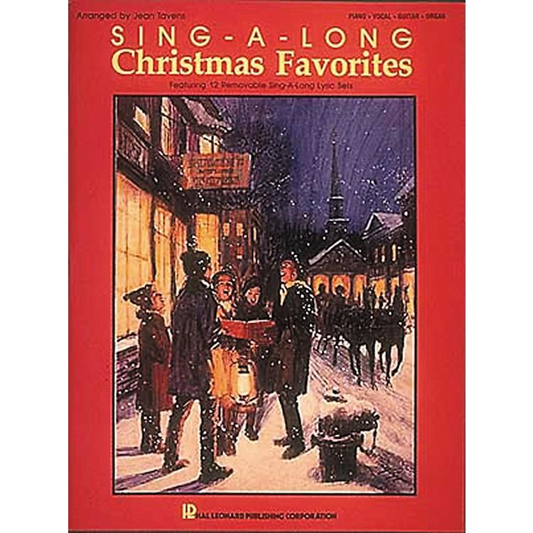 Hal LeonardSing-A-Long Christmas Favorites Piano, Vocal, Guitar Songbook