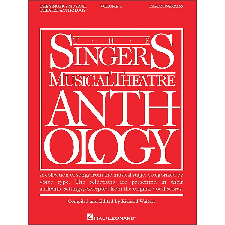 Hal Leonard Singer's Musical Theatre Anthology Baritone / Bass Volume 4