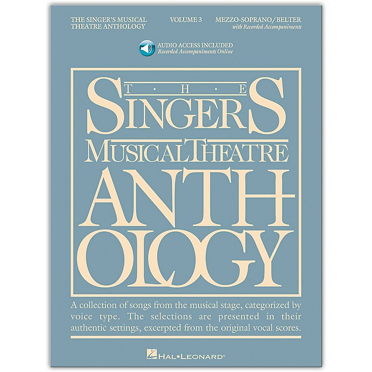 Hal Leonard Singer's Musical Theatre Anthology Mezzo-Soprano / Belter Volume 3 Book/2CD's