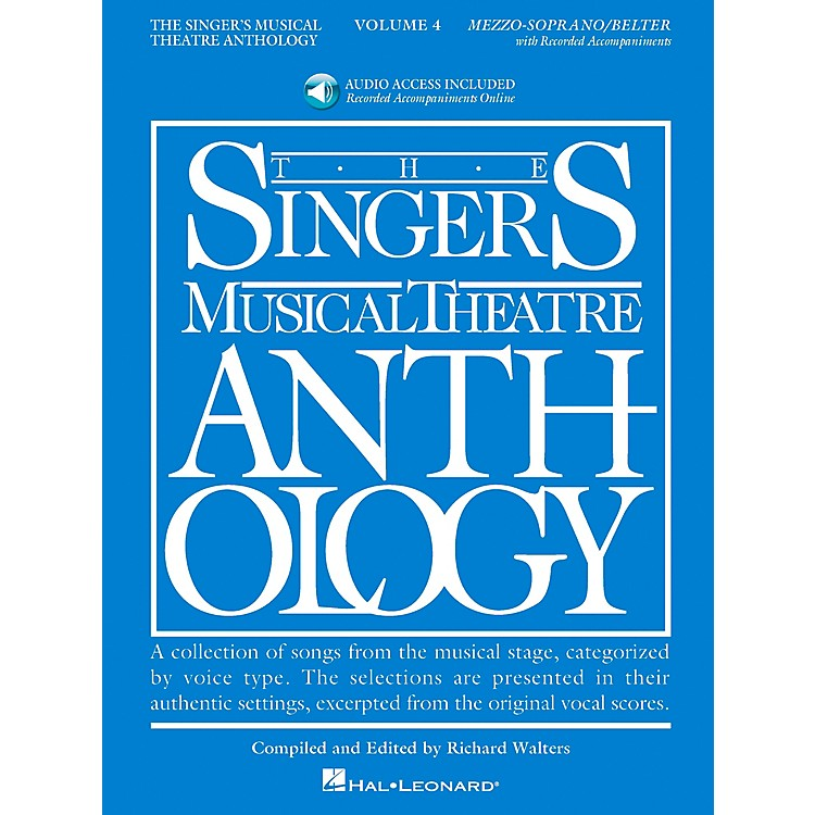 Hal Leonard Singer's Musical Theatre Anthology for Mezzo-Soprano / Belter Volume 4 Book/2CD's