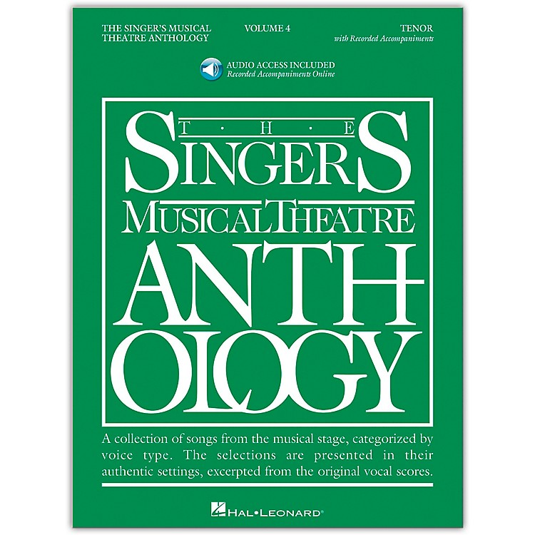 Hal Leonard Singer's Musical Theatre Anthology for Tenor Volume 4 Book/2CD's