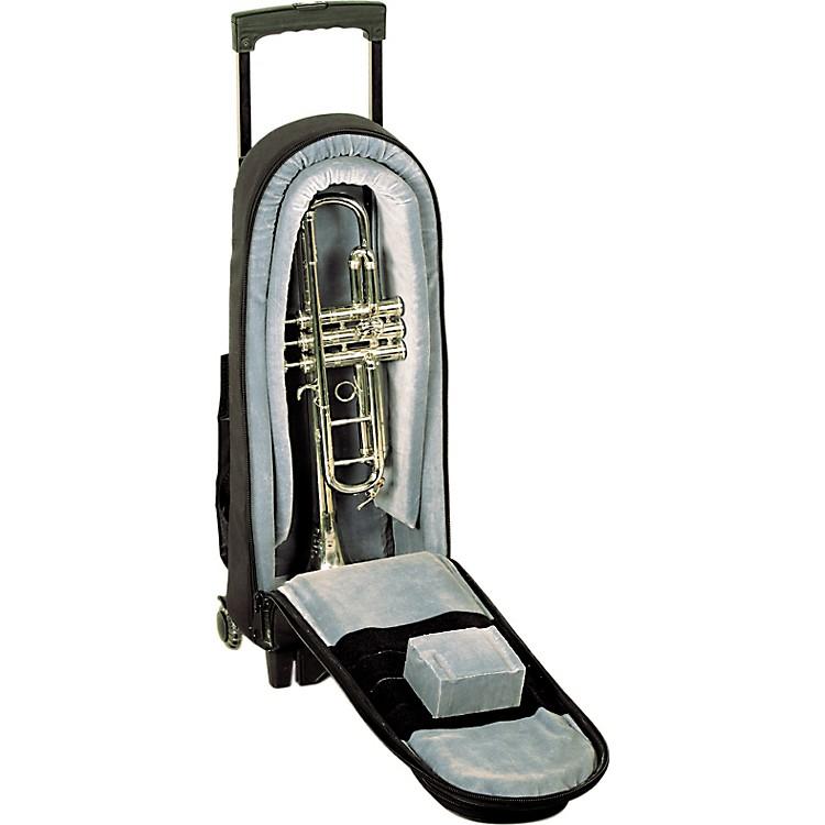 AlloraSingle Trumpet Wheelie Bag1-WBFSK Black GardSynthetic w/ Leather Trim