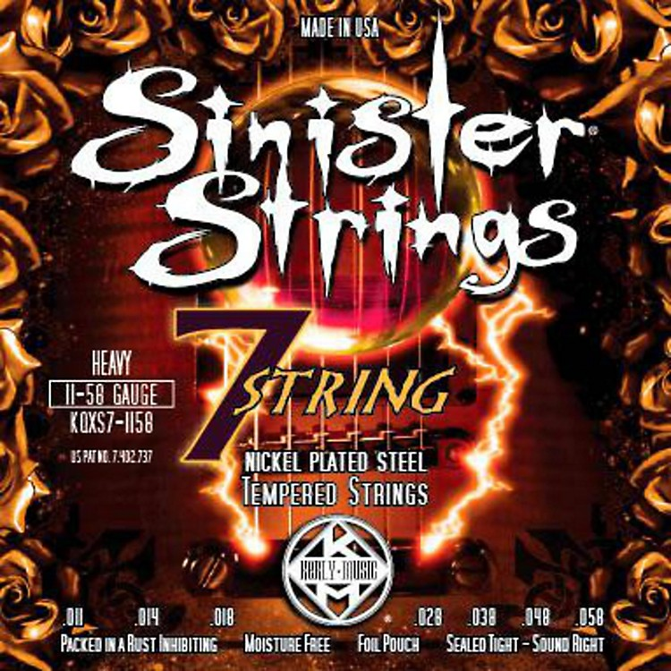 Kerly MusicSinister Strings Nickel Wound Electric Guitar Strings - 7-String Heavy