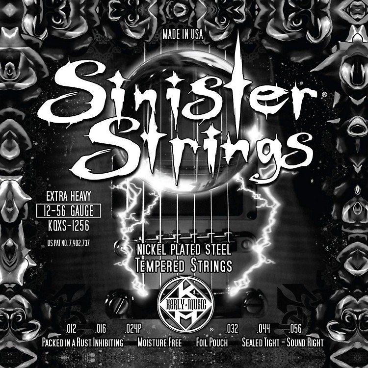 Kerly MusicSinister Strings Nickel Wound Electric Guitar Strings Extra Heavy