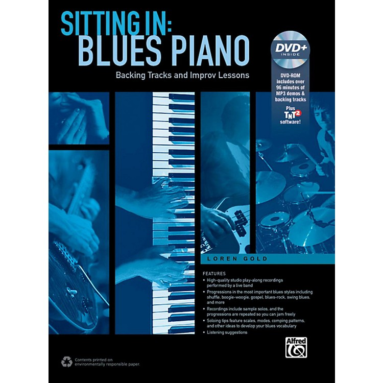 AlfredSitting In: Blues Piano Book/DVD