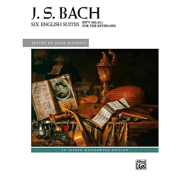 AlfredSix English Suites, BWV 806--811 - Book Advanced