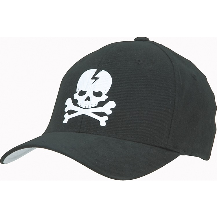 Gear One Skull Flex Cap Black Small/Medium