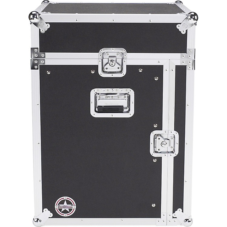 Road Runner Slant Mixer Rack Case/Vertical Rack Black 12 Sp