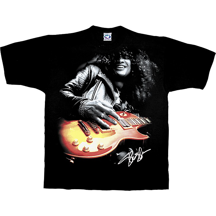 Slash Slash Playing Guitar T-Shirt Black Medium