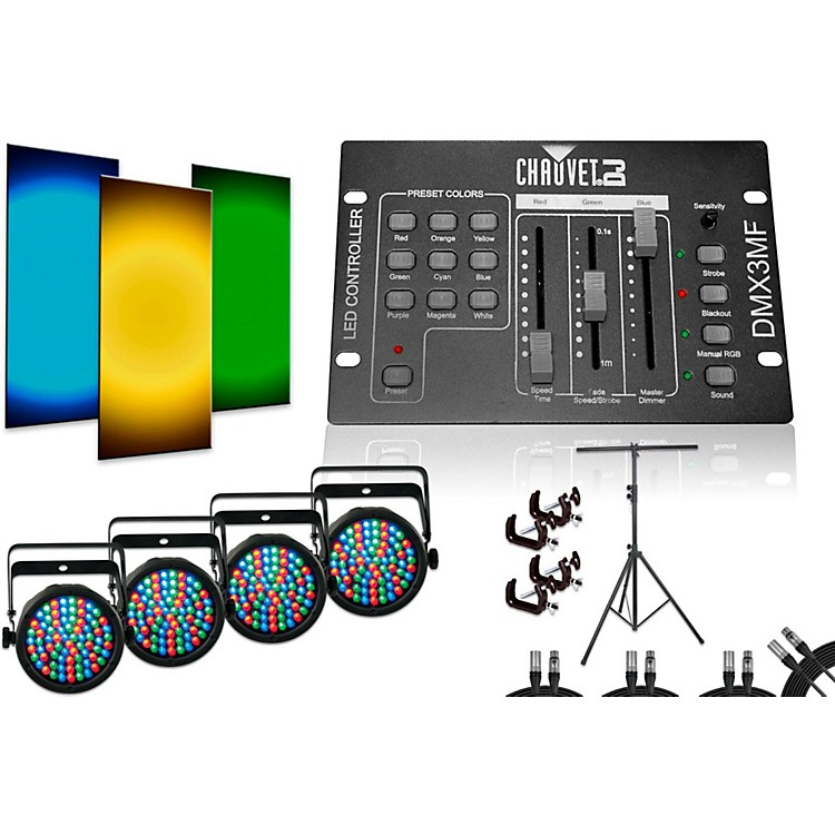 ChauvetSlimPar 38 DMX3MF 4 Light System