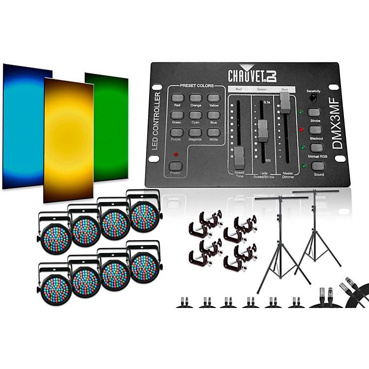 ChauvetSlimPar 38 DMX3MF 8 Light System