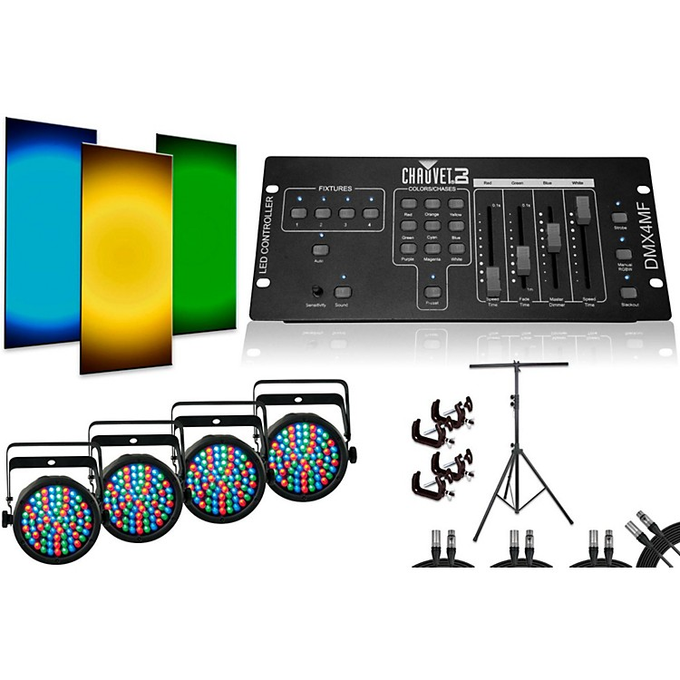 Chauvet SlimPar 38 DMX4MF 4 Light System
