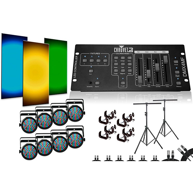 ChauvetSlimPar 38 DMX4MF 8 Light System