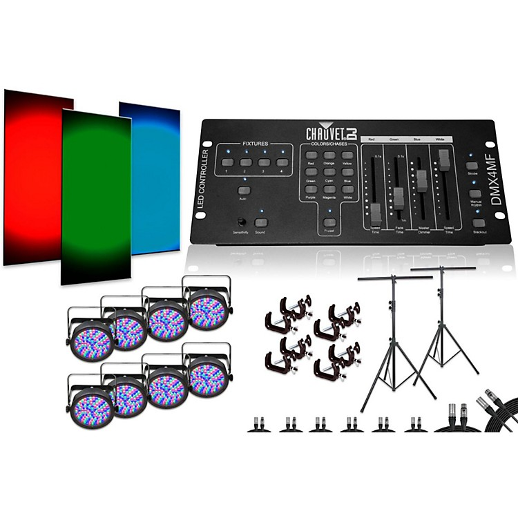 ChauvetSlimPar 56 DMX4MF 8 Light System