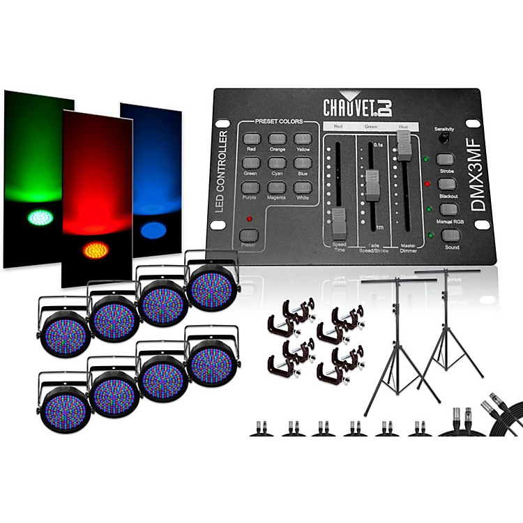 Chauvet SlimPar 64 DMX3MF 8 Light System