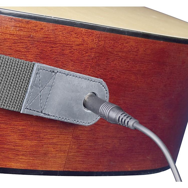NeotechSlimline Acoustic Guitar Strap - End Pin Jack Version LongBlack