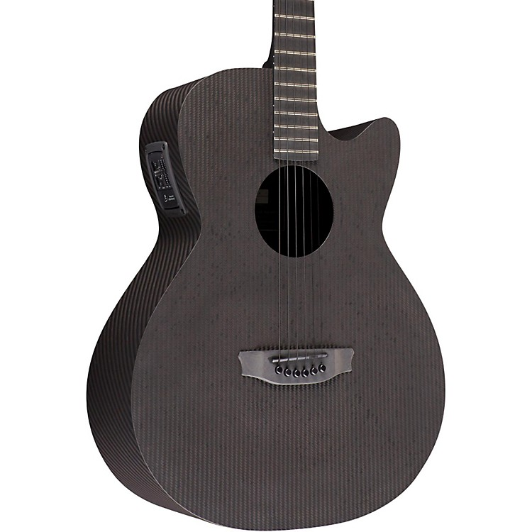 RainSong Smokey All-Carbon Stagepro Element Acoustic-Electric Guitar Dark Satin