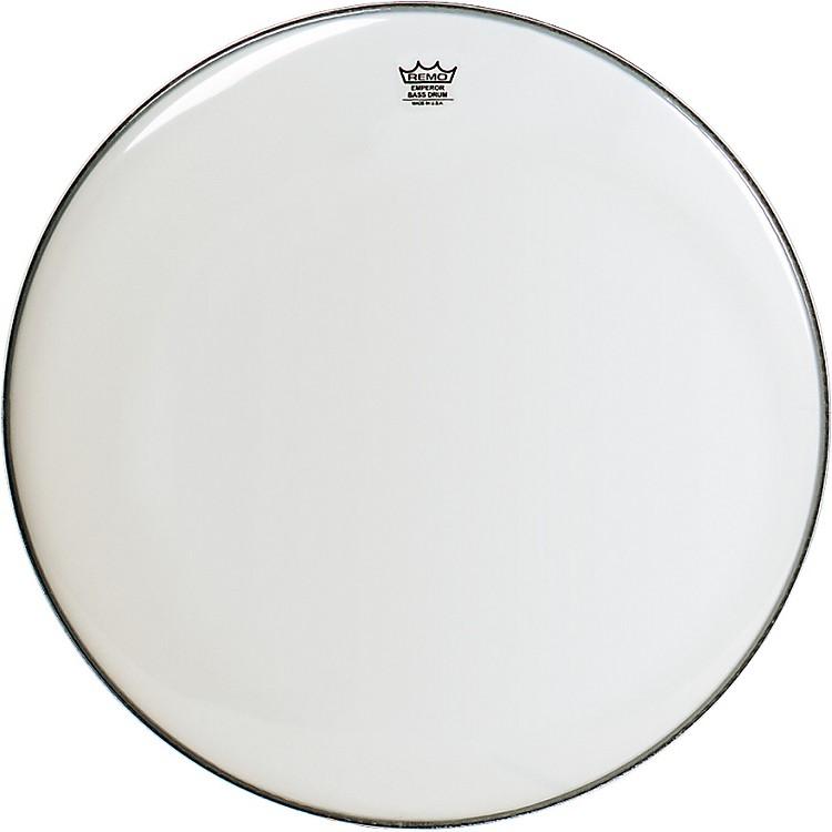 RemoSmooth White Ambassador Bass Drumhead20 in.