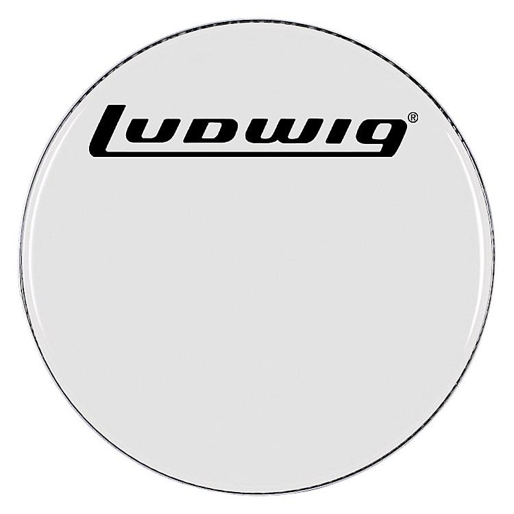 Ludwig Smooth White Bass Drum Head  24 Inch