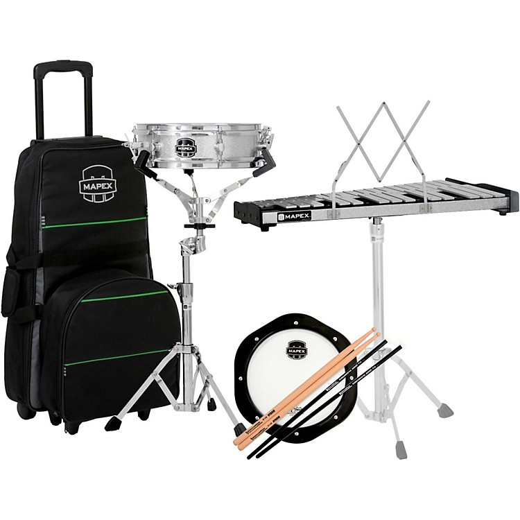 MapexSnare Drum/Bell Percussion Kit with Rolling Bag