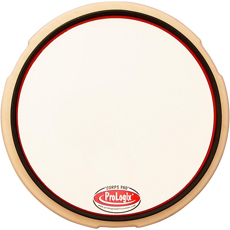 ProLogix Percussion Snare Drum Practice Pad 10 in. White Corps