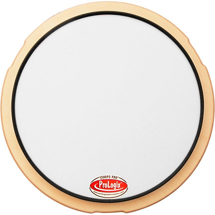 ProLogix Percussion Snare Drum Practice Pad 12 in. White Corps