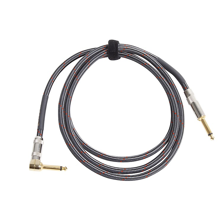 Lava Soar Straight to Right Angle Braided Instrument Cable 6 ft.