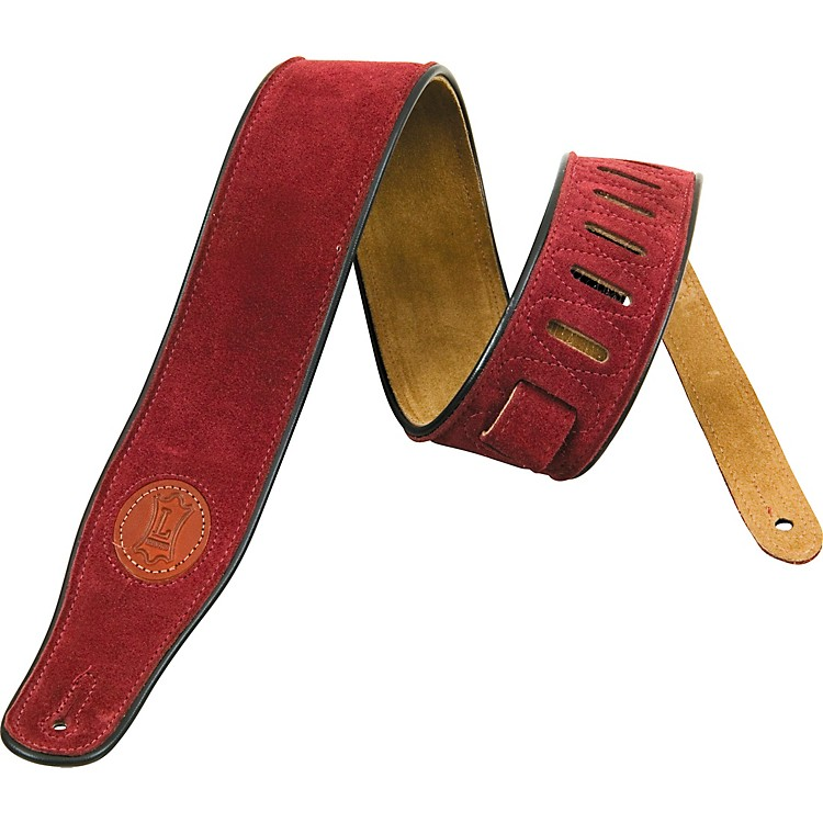 Levy's Soft Suede Guitar Strap Burgundy