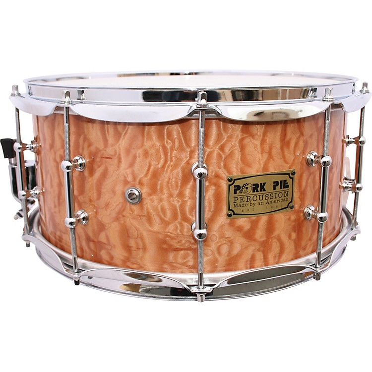 Pork Pie Solid Quilted Maple Snare Drum 7X14 Clear Lacquer
