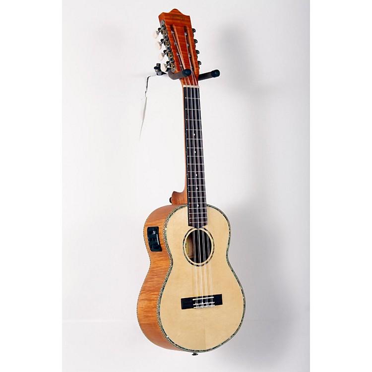 LanikaiSolid Spruce/Okume 8-String Tenor Acoustic-Electric Ukulele888365820675