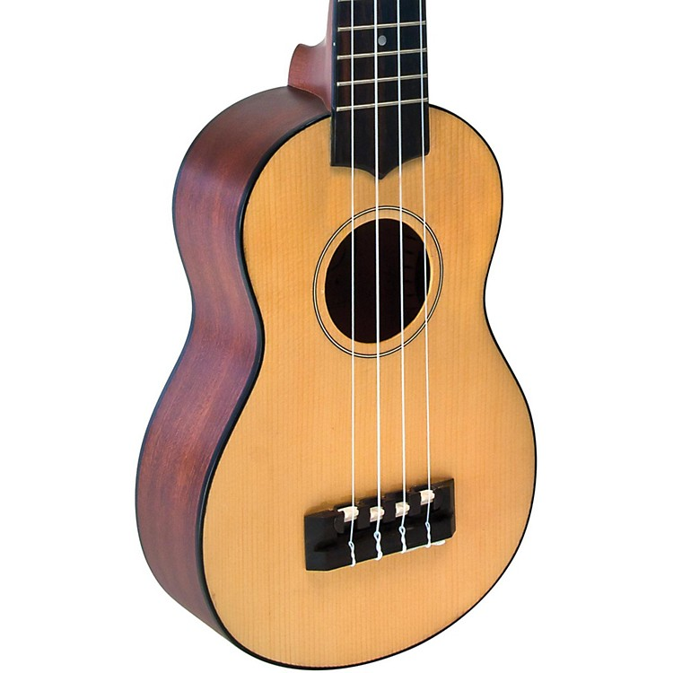 Lanikai Solid Spruce Top TunaUke Equipped Soprano Ukulele