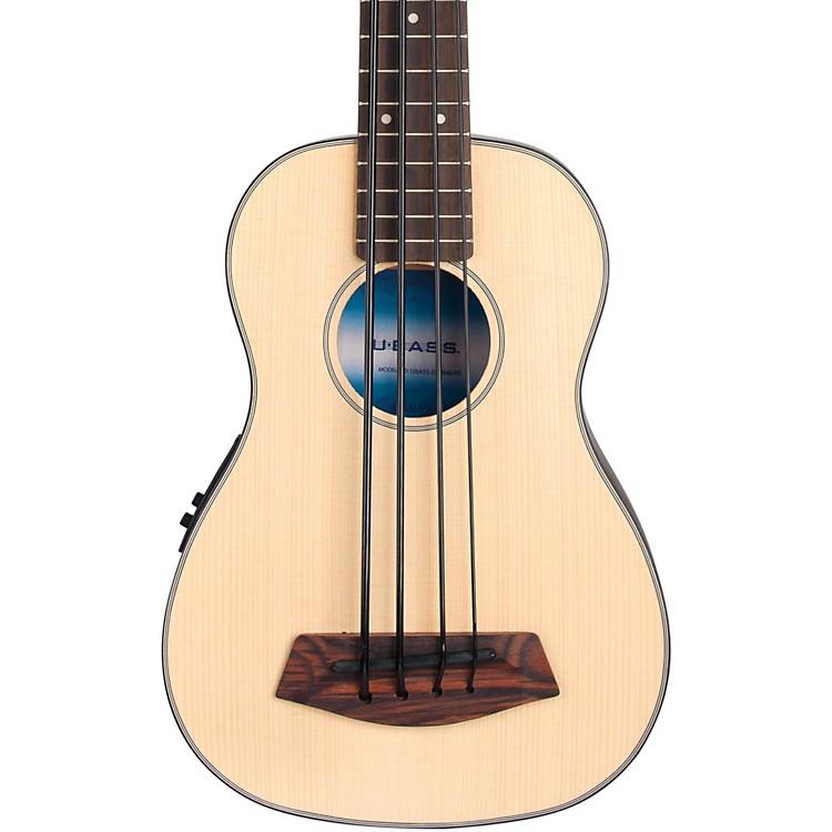 KalaSolid Top Acoustic-Electric U-BassNatural