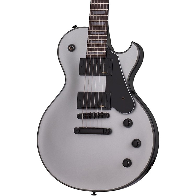 Schecter Guitar Research Solo-II Platinum Electric Guitar Satin Silver
