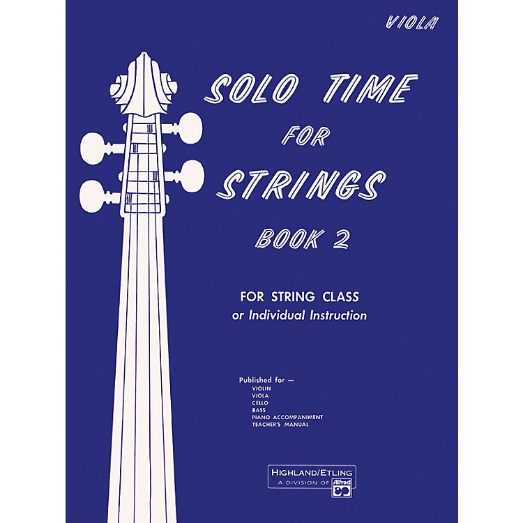 Alfred Solo Time for Strings Book 2 Viola