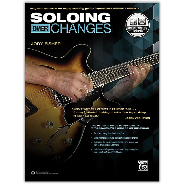 Alfred Soloing over Changes Book & Online Audio