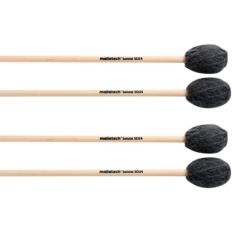 Malletech Soloist Marimba Mallets Set of 4 (2 Matched Pairs) Hard