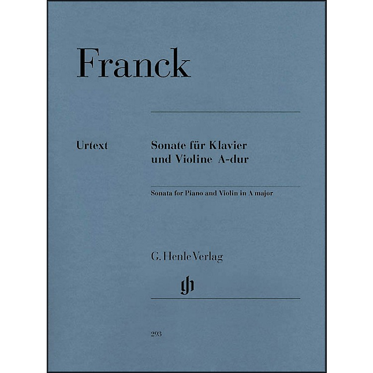 G. Henle VerlagSonata for Piano And Violin A Major By Franck