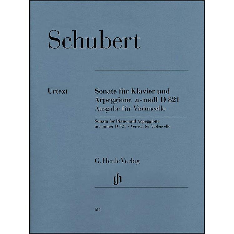 G. Henle VerlagSonata for Piano and Arpeggione A minor D 821 (Op. Posth. (Version for Violoncello) By Schubert