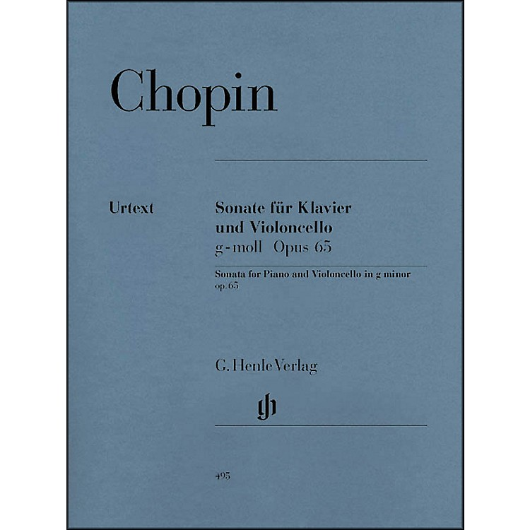 G. Henle Verlag Sonata for Violoncello and Piano G minor Op. 65 By Chopin