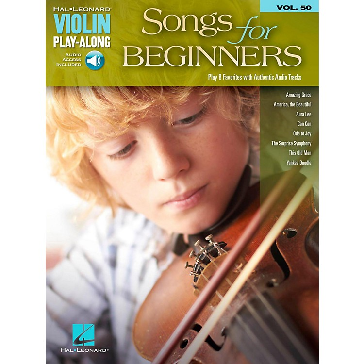 Hal Leonard Songs For Beginners Violin Play-Along Volume 50 Book/Audio Online