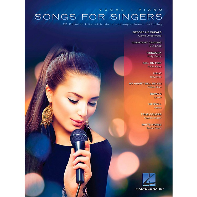 Hal LeonardSongs For Singers - 25 Popular Hits With Piano Accompaniment